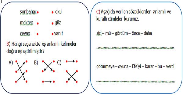 2.Sınıf Türkçe Genel Değerlendirme 3