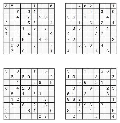Zor Seviye Sudoku 1