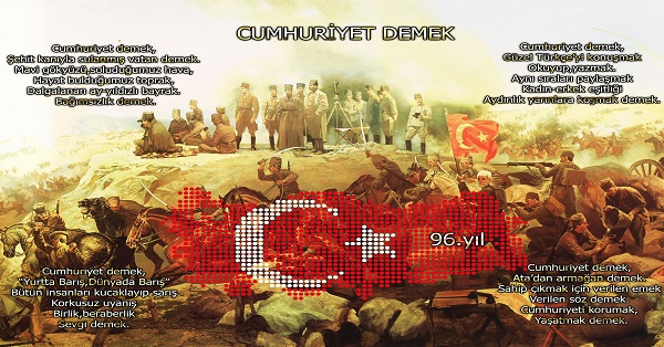 Cumhuriyet Demek Posteri - 50x70
