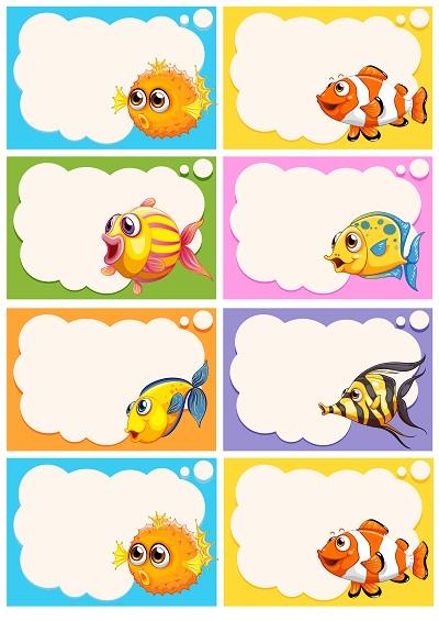 Sevimli balıklı yaka kartı