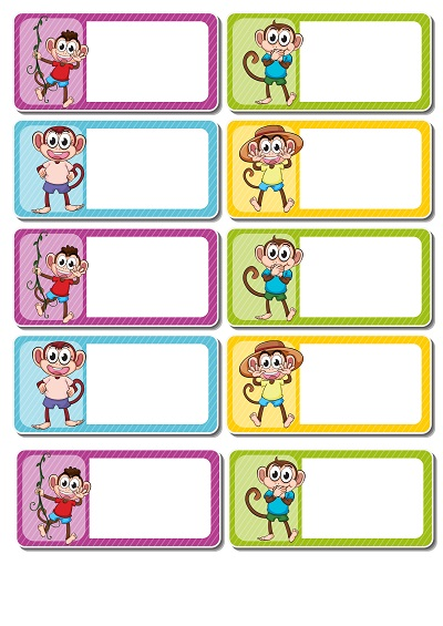 Yavru maymunlu yaka kartı