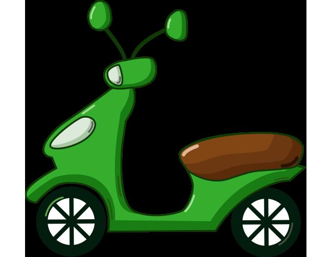 Yeşil motosiklet resmi png