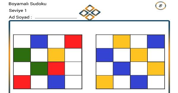 Boyamalı Sudoku 8