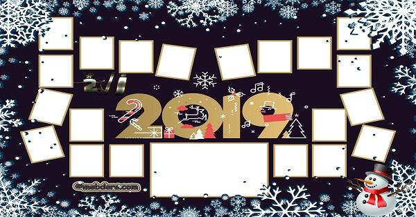 2İ Sınıfı için 2019 Yeni Yıl Temalı Fotoğraflı Afiş (20 öğrencilik)