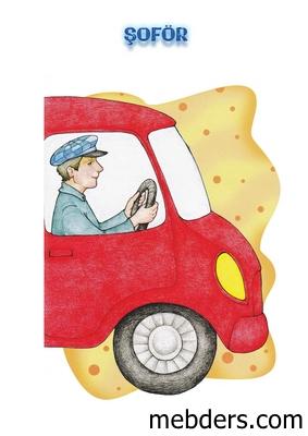 Clipart şoför meslek kartı