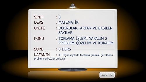 3.Sınıf Matematik Toplama İşlemi Problem Çözelim ve Kuralım Sunusu