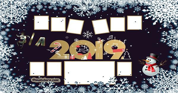 3A Sınıfı için 2019 Yeni Yıl Temalı Fotoğraflı Afiş (9 öğrencilik)