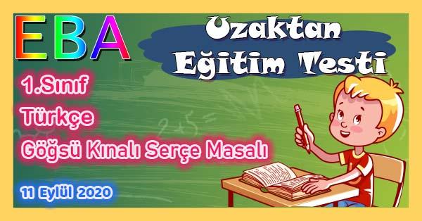1.Sınıf Türkçe Göğsü Kınalı Serçe Masalı Uzaktan Eğitim Testi pdf