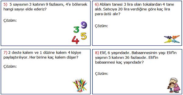 2.Sınıf Matematik Karışık Problemler Etkinliği 2