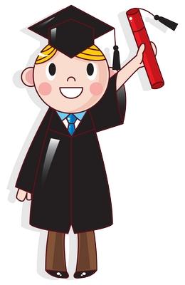 Clipart mezun olmuş erkek çocuk png