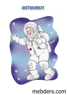 Clipart astronot meslek kartı