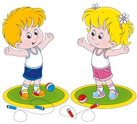 Clipart spor yapan çocuklar resmi png
