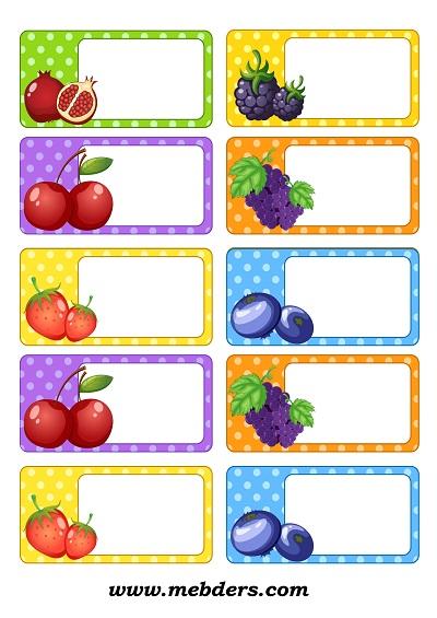 Meyveli yaka kartı