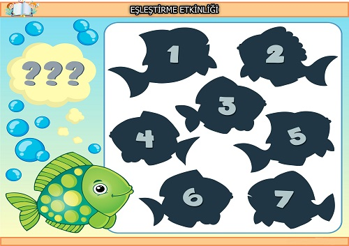 Yeşil balık gölgesi eşleştirme etkinliği