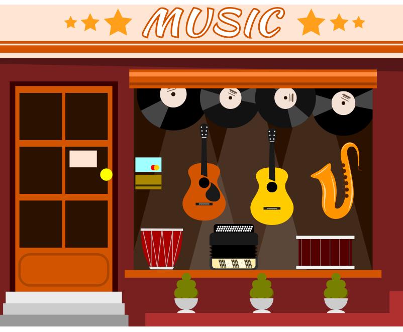 Müzik market bina resmi png
