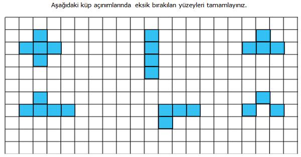 4.Sınıf Matematik Açınımı Verilen Küpü Oluşturma (Küp Oluşturma)