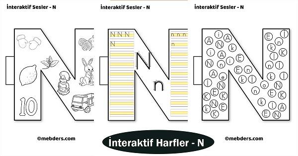 1.Sınıf İlkokuma İnteraktif Harfler - N Sesi