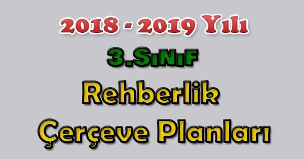 2018-2019 Yılı 3.Sınıf Rehberlik Çerçeve Planı