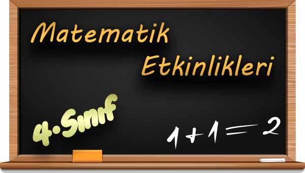 4.Sınıf Matematik 1. Ünite Değerlendirme Etkinliği