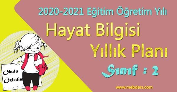 2020 - 2021 Yılı 2.Sınıf Hayat Bilgisi Yıllık Planı (MEB)