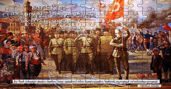 Cumhuriyet Panosu Puzzle Poster (96 Parça)