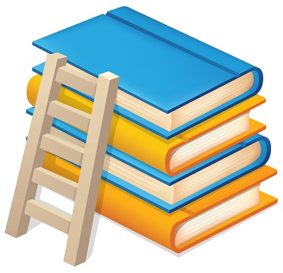 Merdiven dayalı kitaplar resmi png