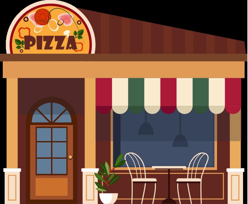 Pizza dükkanı bina resmi png