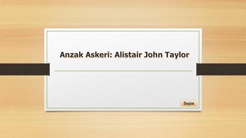 Anzak Askeri Alistair John Taylor için Fon Slaytı