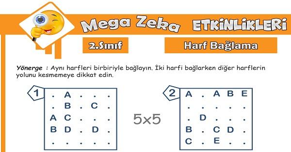 2.Sınıf Mega Zeka Etkinliği - Harf Bağlama