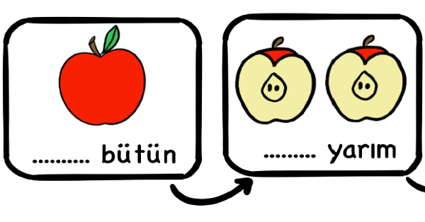 1.Sınıf Matematik Kesirler (Bütün - Yarım) Etkinliği