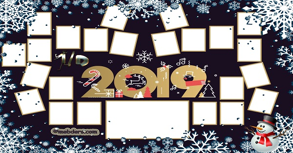 1D Sınıfı için 2019 Yeni Yıl Temalı Fotoğraflı Afiş (23 öğrencilik)