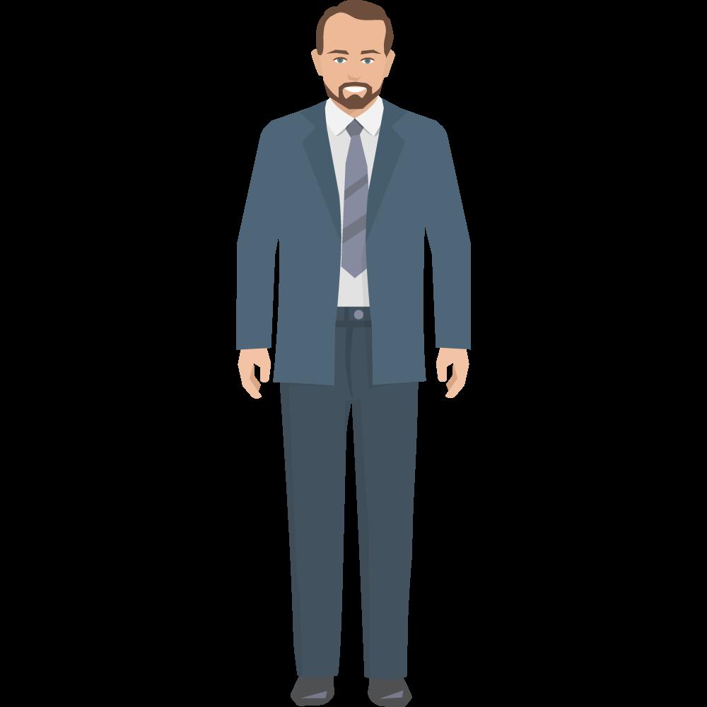 Clipart takım elbiseli yetişkin erkek resmi