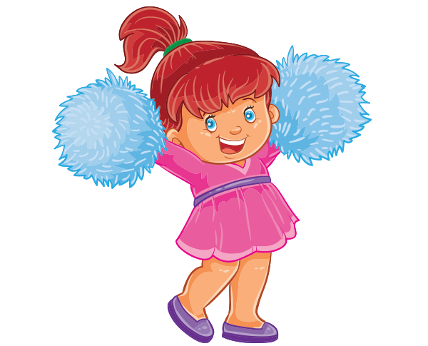 Clipart küçük sevimli popnpon kız çocuk resmi