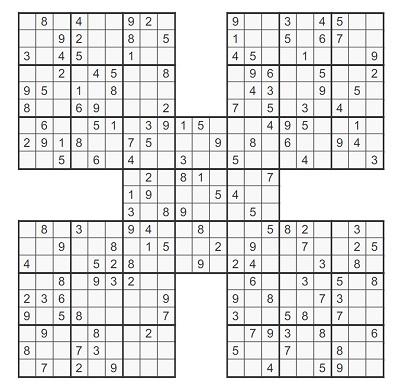 Beşli Samurai Sudoku 2