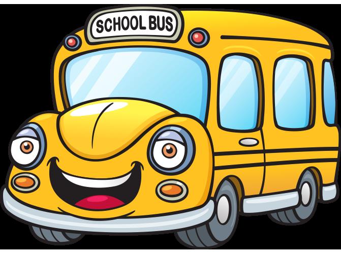 Gülen yüzlü okul otobüsü resmi png