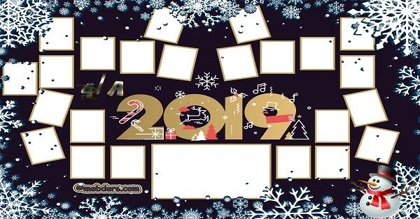 4A Sınıfı için 2019 Yeni Yıl Temalı Fotoğraflı Afiş (23 öğrencilik)