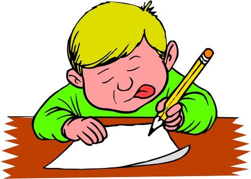 Clipart dili dışarıda yazı yazan erkek çocuk resmi png