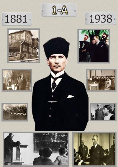 Model 16, 1A şubesi için Atatürk'ün hayatı temalı kapı süslemesi
