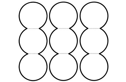 3'lü akordiyon dairelerle not yazma şablonu