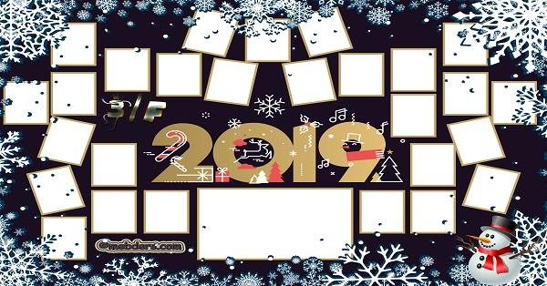 3F Sınıfı için 2019 Yeni Yıl Temalı Fotoğraflı Afiş (27 öğrencilik)