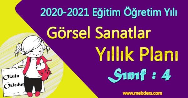 2020 - 2021 Yılı 4.Sınıf Görsel Sanatlar Yıllık Planı