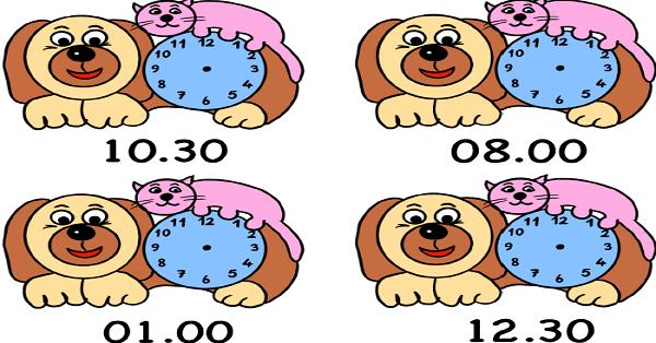 1.Sınıf Matematik Köpekli Saat Etkinliği