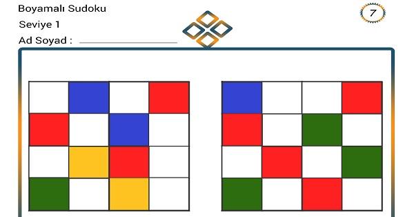 Boyamalı Sudoku 7