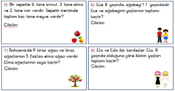 1.Sınıf Toplama İşlemi ile İlgili Problemler 4