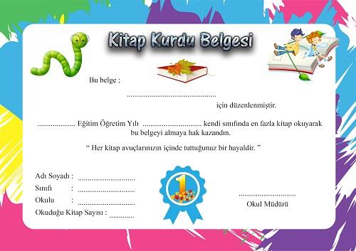 Kitap Kurdu Belgesi Meb Ders