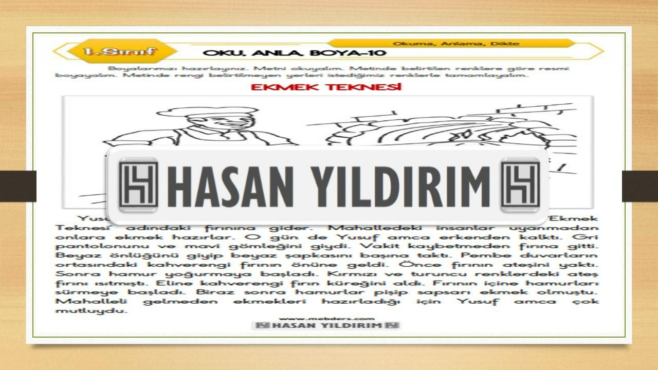 1.Sınıf Türkçe Oku, Anla, Boya-10
