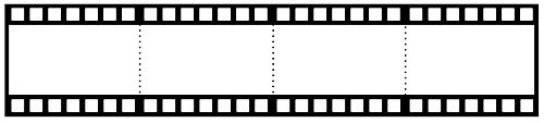 Dörtlü film şeritli şablon