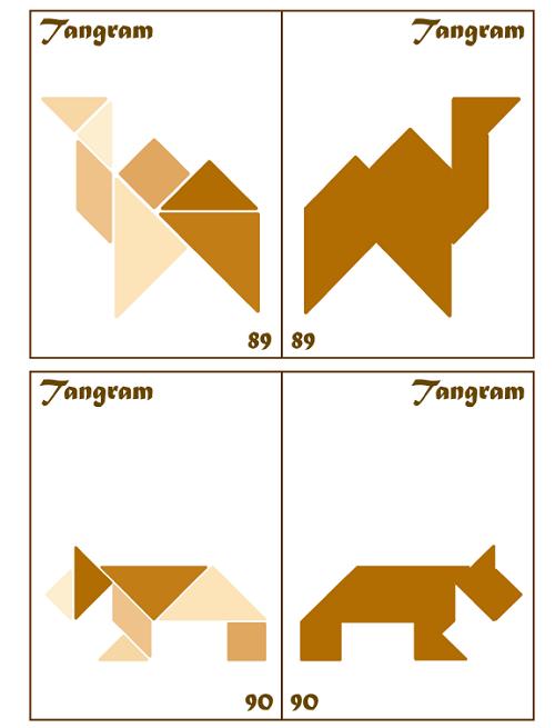 Tangram Kartları (90'lı Set)