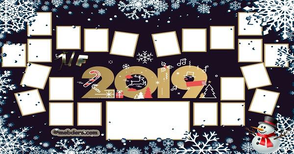 1F Sınıfı için 2019 Yeni Yıl Temalı Fotoğraflı Afiş (22 öğrencilik)