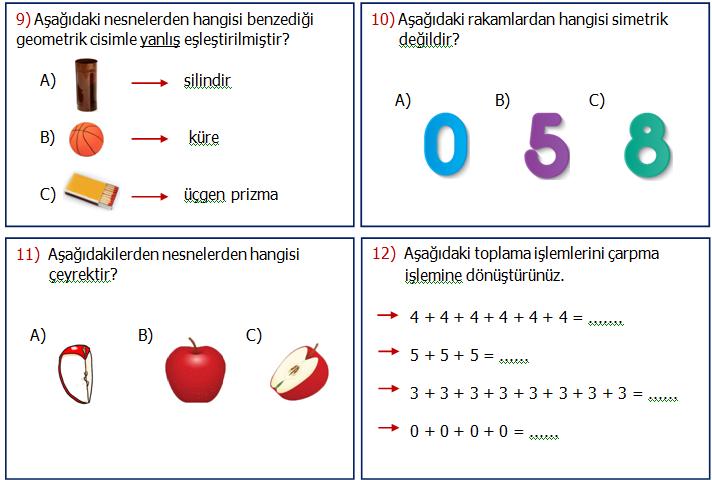 2.Sınıf Matematik Genel Değerlendirme 1